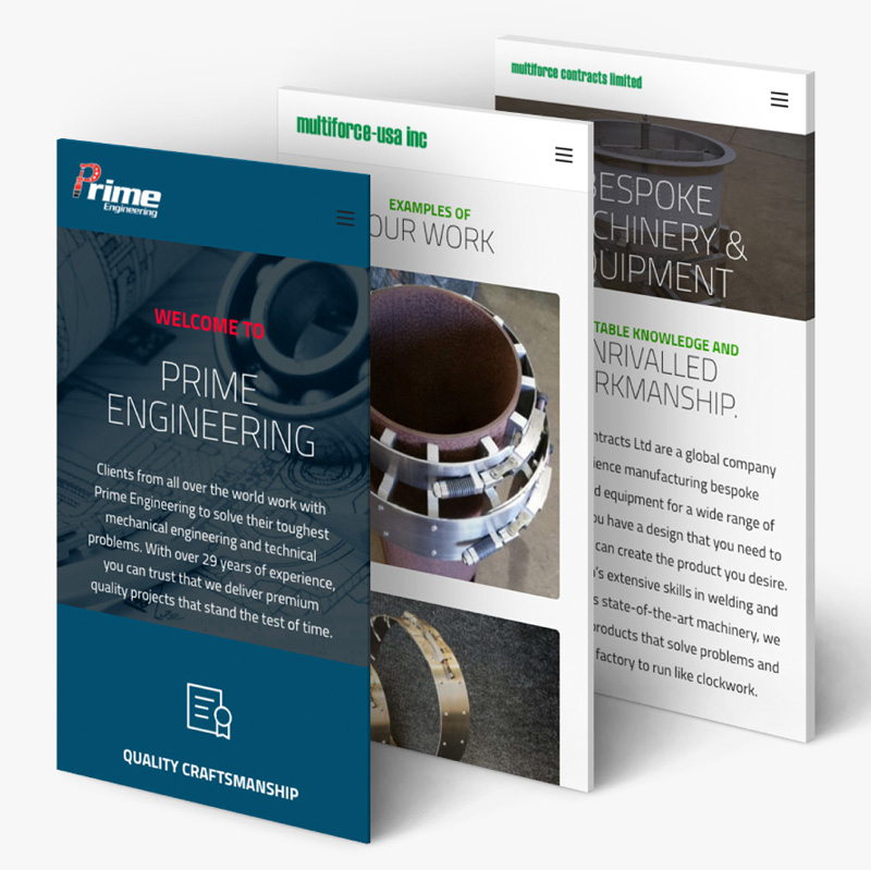 Website Design Prime Engineering By Ronin