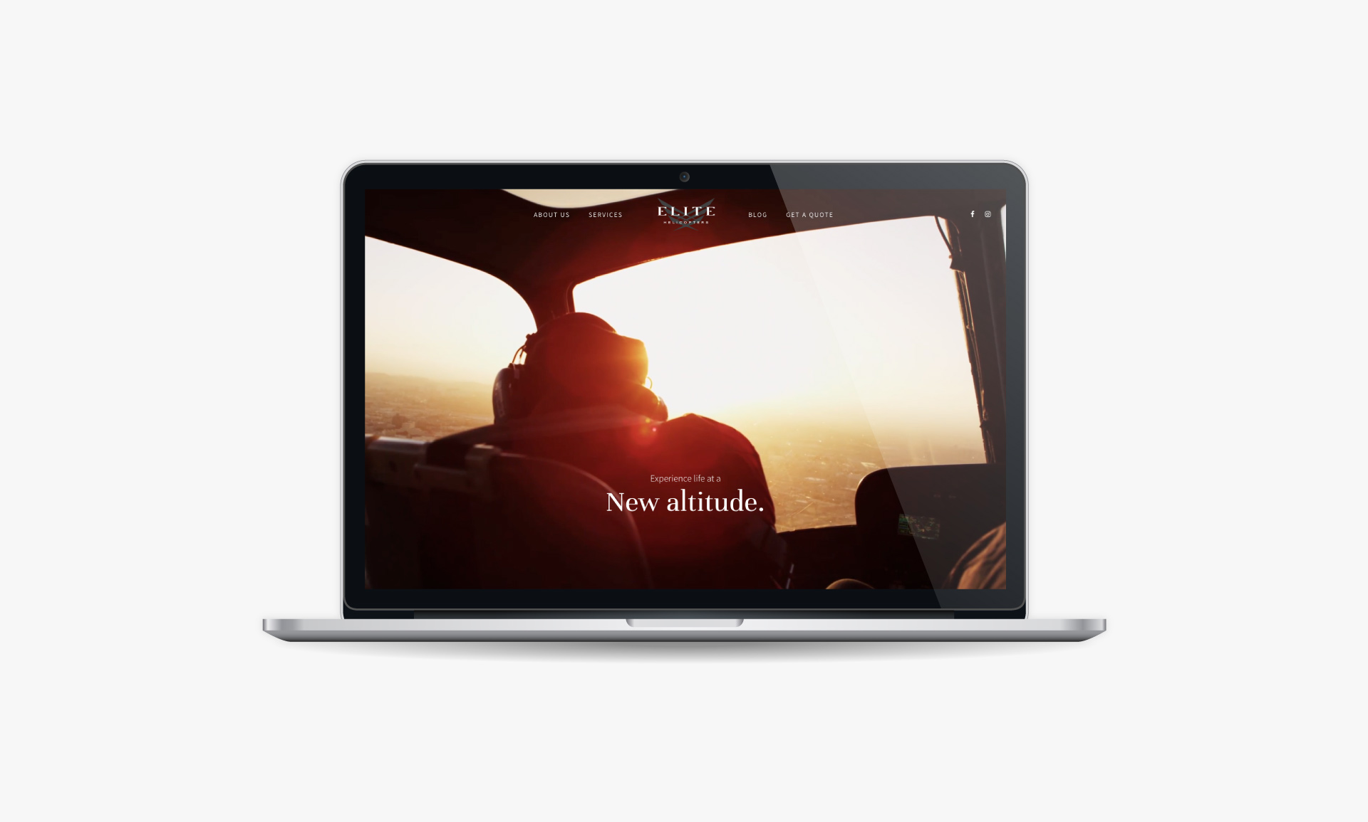 Responsive Luxury Helicopter Charter Website | Website Design & Development | Ronin Digital Marketing