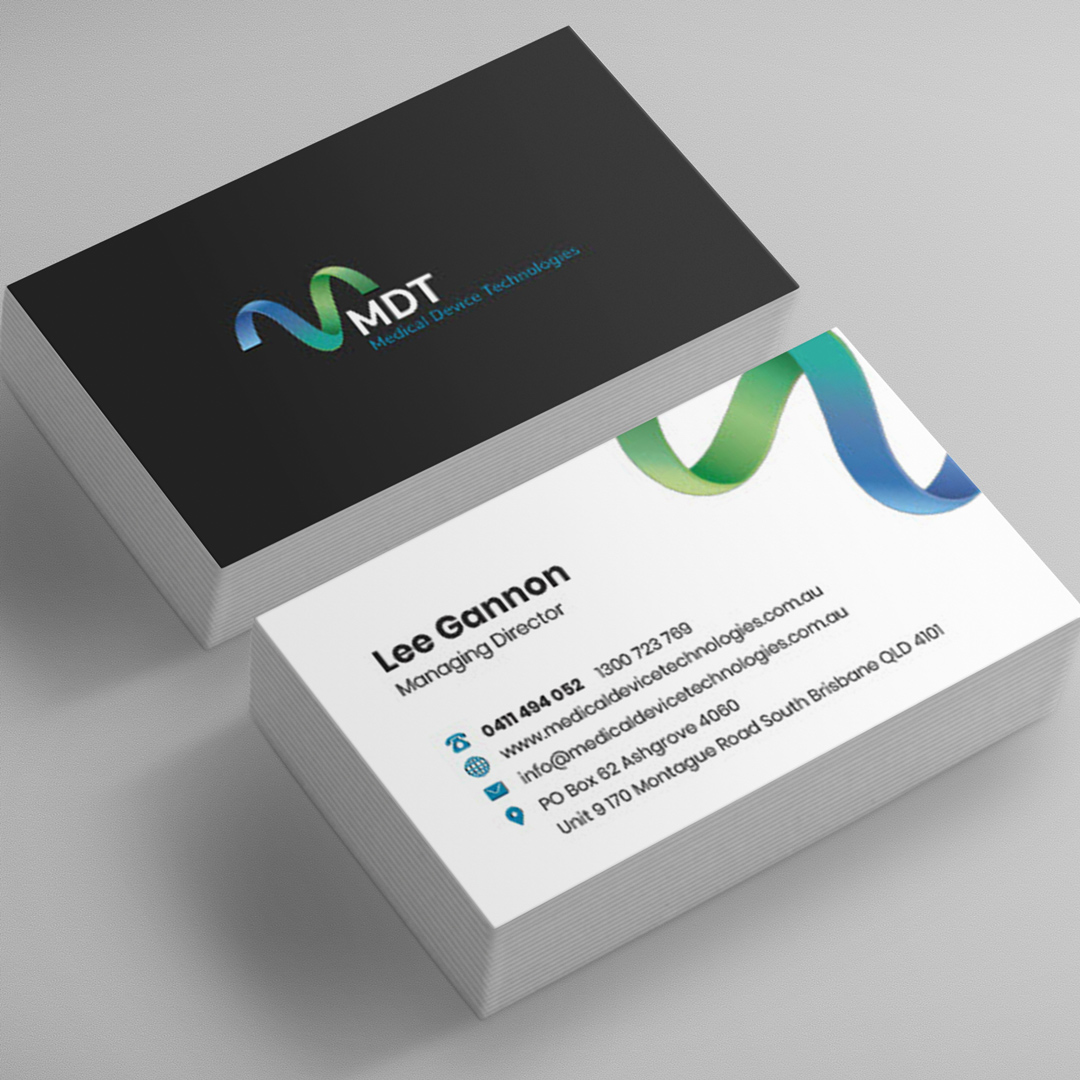 graphic design of logo and branding by Ronin Digital Marketing Agency in Brisbane for MDT's marketing strategy