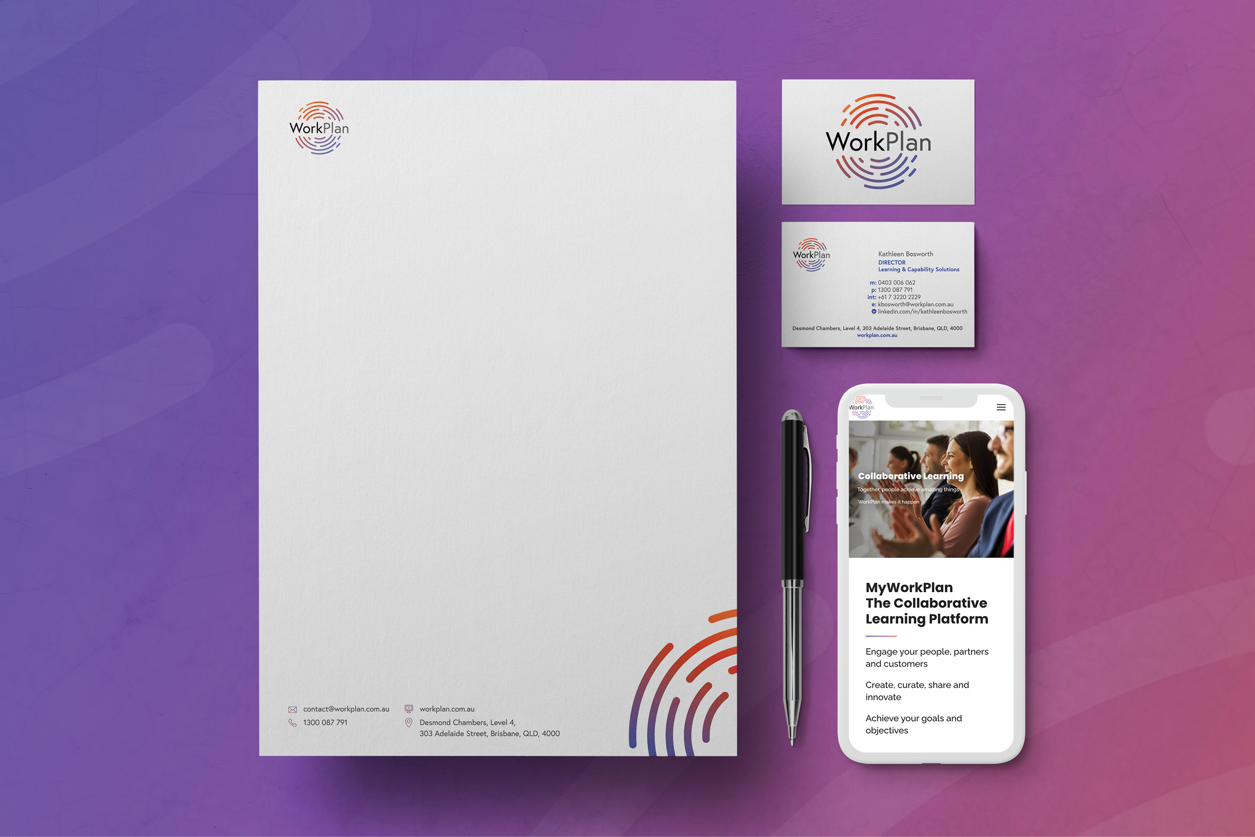 Full cover brand redesign for Workplan by Ronin Marketing
