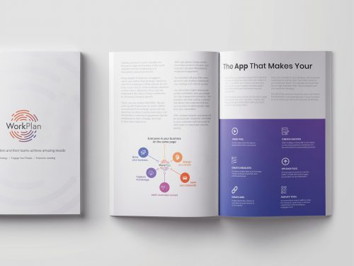 Book designed by Ronin Marketing for Workplan
